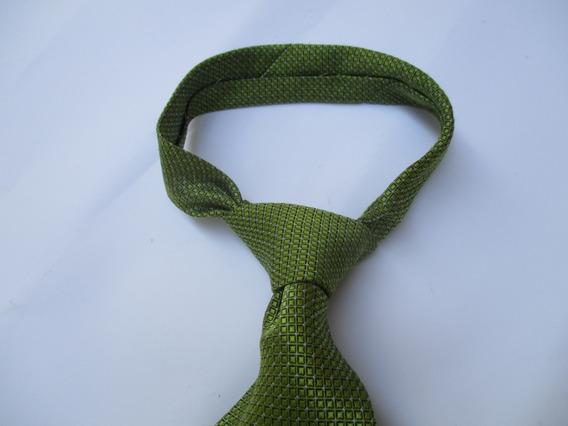 Corbata Verde Manzana Con Diseño Marca Francesco Bruss Roma