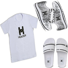 Kit 1 Sapatênis Casual Masculino Spider +1 Chinelo +1 Camisa