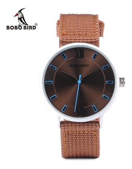 Relógio Analógico Aço Inox Bobo Bird P22 + Frete