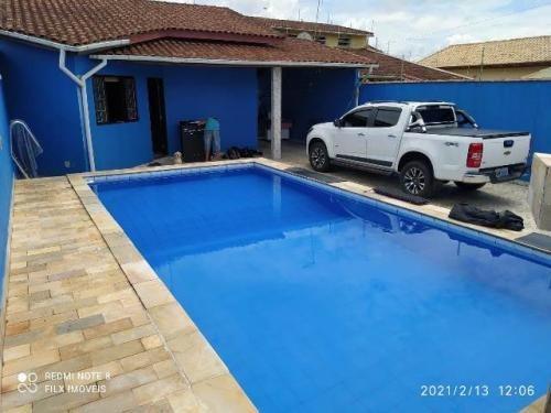 Linda Casa Com Piscina No São Jorge Em Itanhaém - 7780