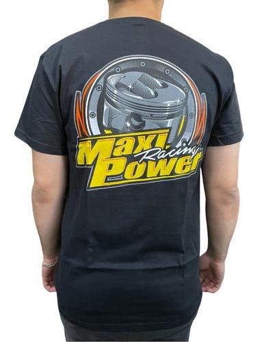 Imagem 1 de 2 de Camiseta Maxi Power Racing Preta