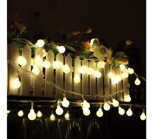 Guirnalda Luces Guía Led Blanca Cálida Decorar Jardín Casa