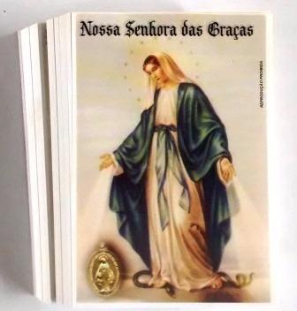 Milheiro Oração Santinho Nossa Senhora Das Graças Promessa