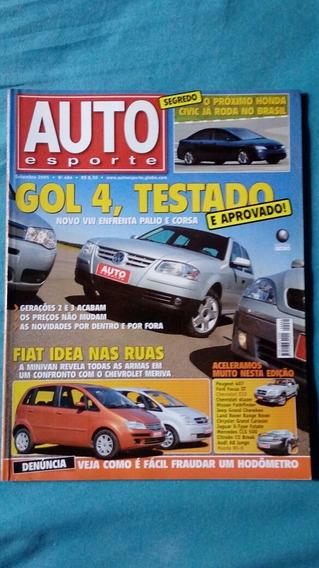 Auto Esporte N°484 Gol G4 2005 * Fiat Idea * Mazda Rx-8 *s10