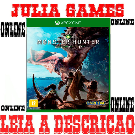 Monster Hunter World Xbox One Digital Online + Brinde