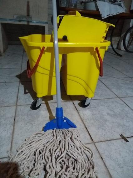 Carrinho De Limpeza Industrial Com Mop