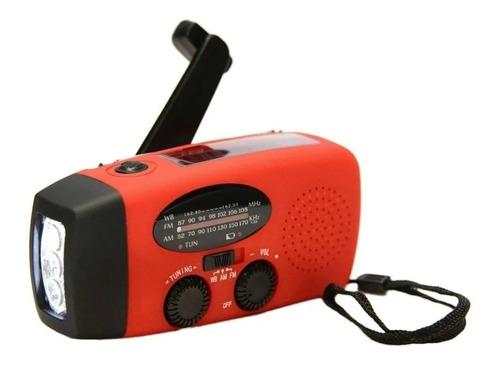 Radio Sobrevivencia Dinamo Luz Solar Lanterna