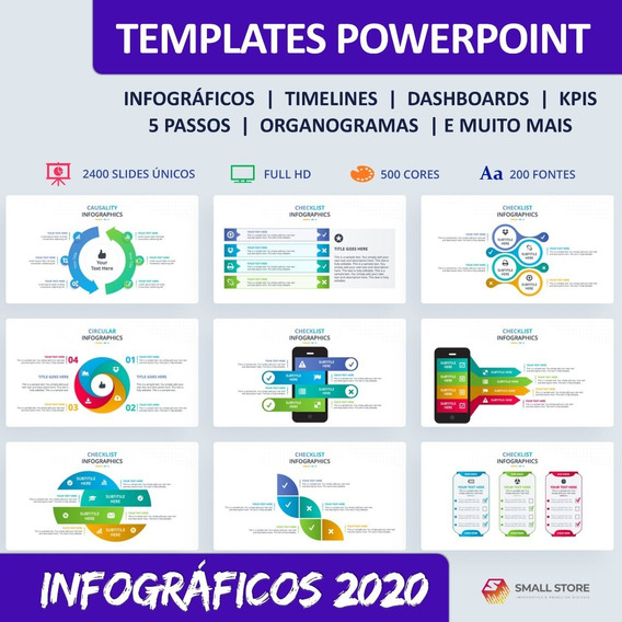 Templates Slides Powerpoint Infográficos E Dashboard