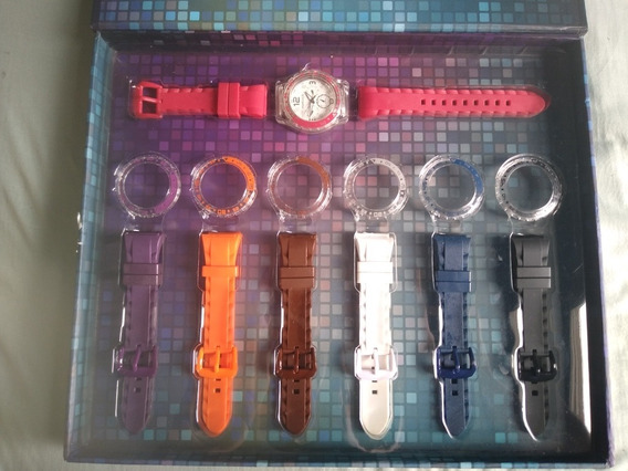 Conjunto Relógio Mariner C/ 7 Pulseiras Trocáveis Original
