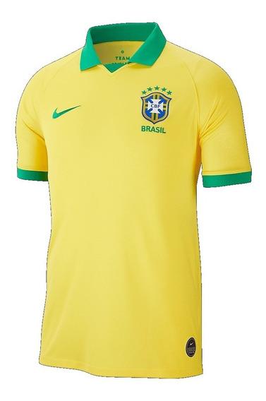 Camisa Nike Cbf Seleção Brasil I Home Amarela 19/20 Original