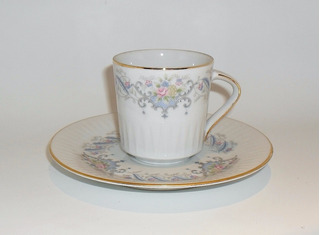 Tazas De Café Con Plato Pocillos Porcelana Tsuji