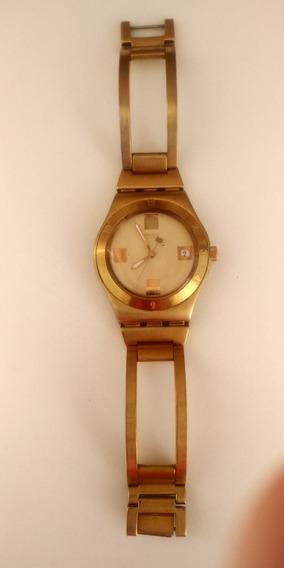 Relogio Swatch Original Dourado Feminino Usado