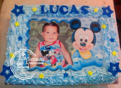 Tortas Con Foto De   Mickey Y Minnie  (precio X Kilo)