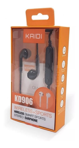 Fone De Ouvido Sem Fio Bluetooth Kaidi Kd906 Preto