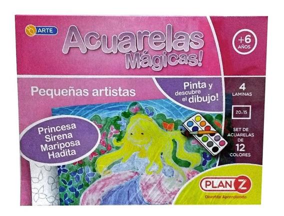 Acuarelas Magicas Pequeñas Artistas Plan Z Para Niñas