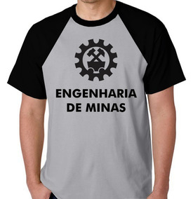Camiseta Raglan Blusa Camisa Faculdade Engenharia De Minas