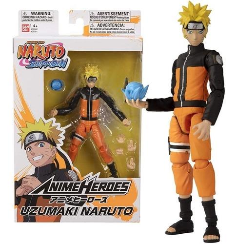 Imagem 1 de 7 de Boneco Uzumaki Naruto - Shippuden Anime Heroes Bandai