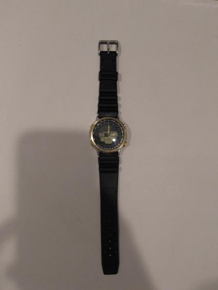 Citizen Wingman Promaster Wr100 Relógio Aviador Pulseira Or.