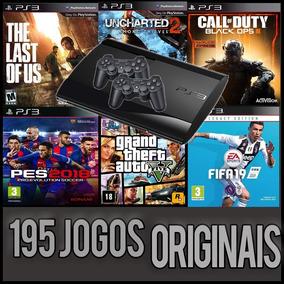 Playstation 3 195 Jogos Originais Ps3 Hd 500gb + 2 Controles