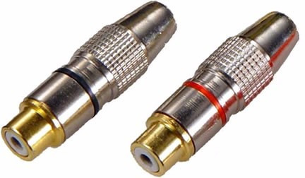 Plug Csr Nit1163f Metal Rca Fêmea (blister 5 Unidades)