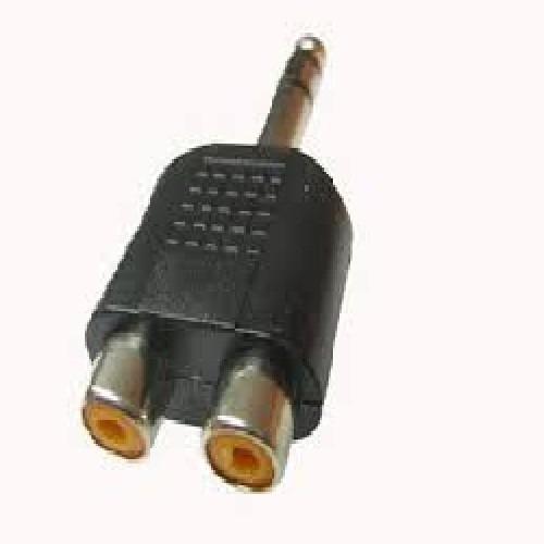 Imagen 1 de 3 de Adaptador Plug 6.5 Estereo - 2 Hembra Rca