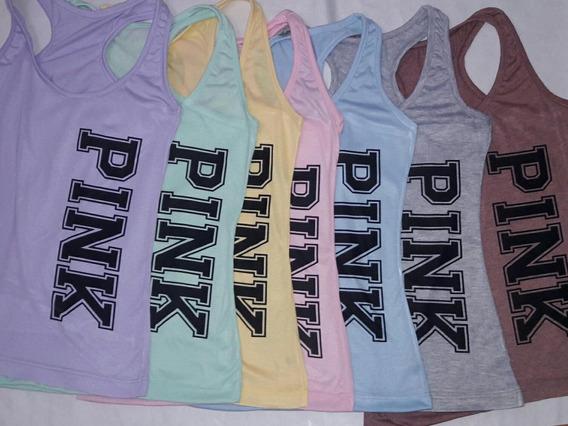 Musculosas Deportivas Mujer S Y M Pink Sublimadas