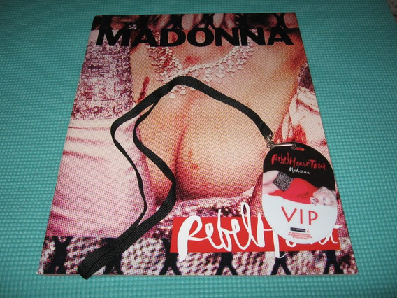 Madonna Rebel Heart Tour Program Book Com Vip Pass