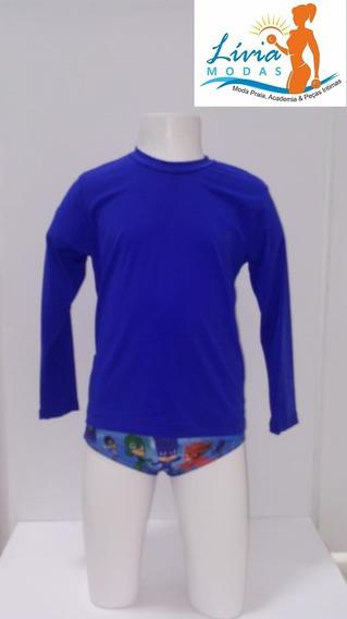 Kit 2 Camiseta Com Proteção Uv 50+ Infantil Unissex