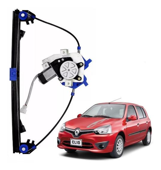 Maquina Vidro Eletrico Clio 4 Portas Dian Esquerdo Com Motor
