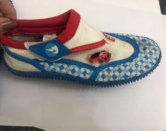 Zapatillas Zapatos Neoprene Para Agua Niños Hot Wheels Origi
