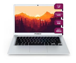 Notebook Cloudbook Pcbox 14p Fire Intel Fhd Ssd 480gb Win 10