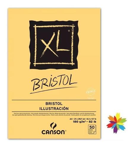 Block Canson Xl Bristol A4 X 180 Gramos X 50 H. Barrio Norte