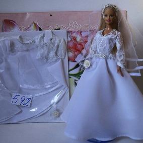 Vestidos Ropa Para Barbie, Princesas , Novia De Calidad Y T