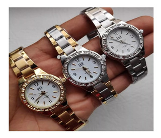 Reloj Análogo Q&q Original Qyq Gold/silver Dama Water Resist