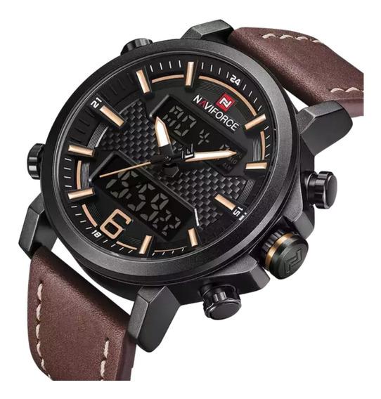 Relógio Naviforce 9135 Digital Esportivo Prova Água Original