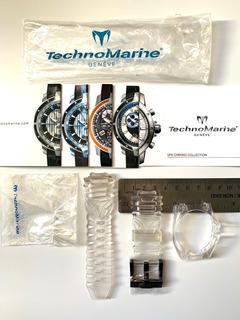 Malla De Reloj Relojes Technomarine Importada Cruise Clear