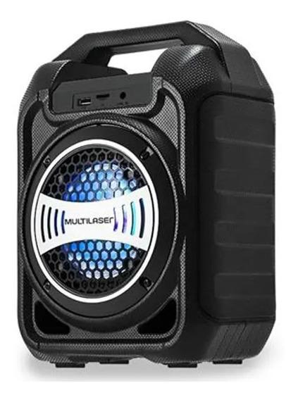 Caixa De Som Bluetooth 30w 5 Em 1 Multilaser Led Rádio Fm/p2