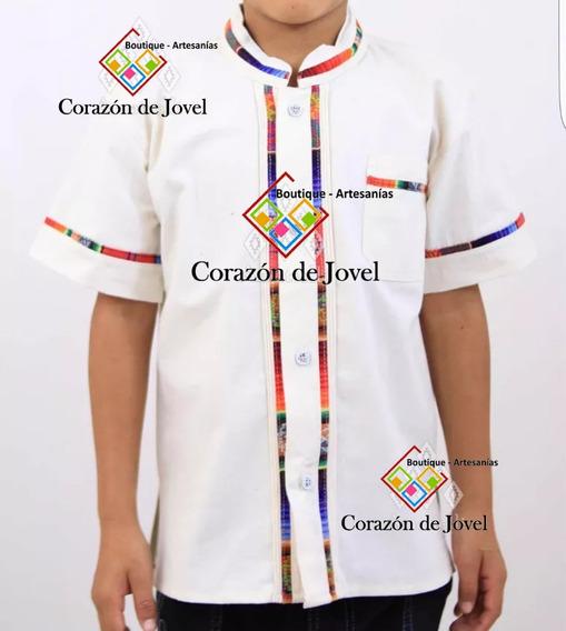 25 Camisas/guayaberas Artesanales De Niño/ Mexicana- Chiapas