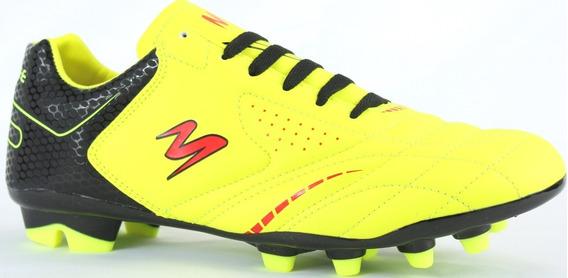 Tenis Futbol Soccer Pasto Modelo 430 Amarillo/ Negro/ Rojo