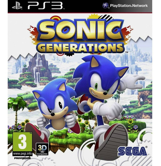 Jogo Ps3 Sonic Generations Midia Digital