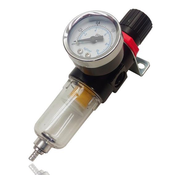 Filtro De Ar Para Pintura C Regulador Pressão 1/4 Compressor
