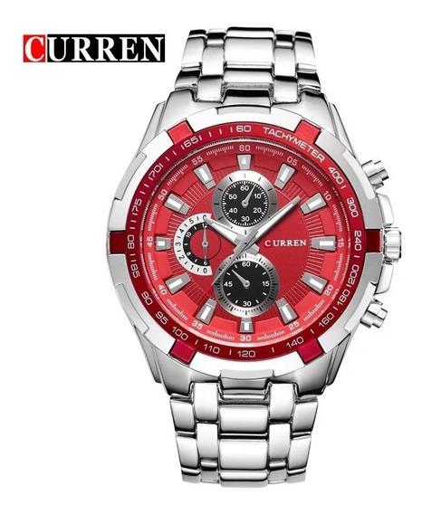 Relógio Curren Pulseira De Aço Luxo