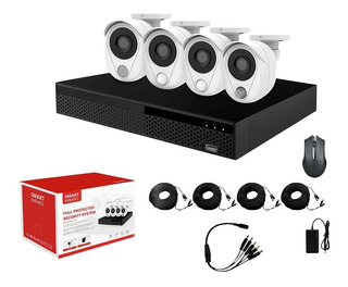 Kit Cctv Smart Wifi Nvr 2mp 4ch + 4 Cámaras De Seguridad