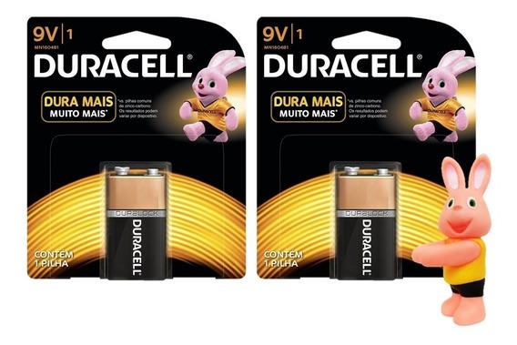 Kit 2 Bateria Duracell 9 Volts - Produto Original - Oferta!