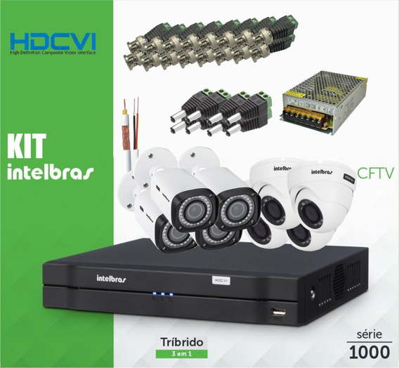 Kit Cftv 8 Câmeras Multi Hd Intelbras G4 Mhdx 1008 Wd Purple