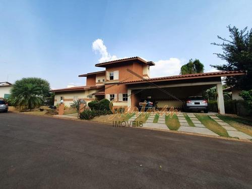 Sobrado Com 4 Dormitórios À Venda, 422 M² Por R$ 1.600.000 - Condomínio Eudóxia - Campinas/sp - Ca3591