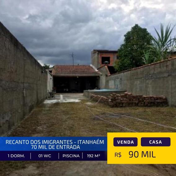 Casa Local De Moradores 70 Mil Entrada| Itanhaém Litoral Sul
