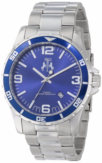 Reloj Jivago Ultimate Acero Inoxidable Plata 100m Msi Jv6116