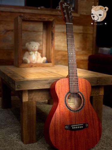 Imagem 1 de 7 de Violão Baby Travel Elétrico 91 Guitars 91lxm34 100% Mogno