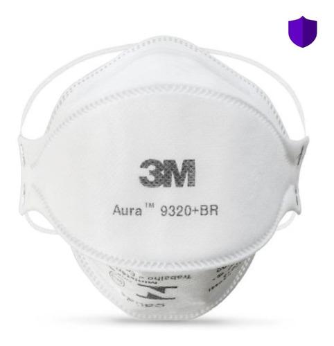 Imagem 1 de 7 de 10 Máscara Respirador 3m Pff2 Aura 9320 N95 - C/ Nota Fiscal